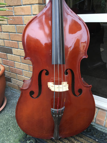 Solid Wood 1/2 Size Double Bass - Used
