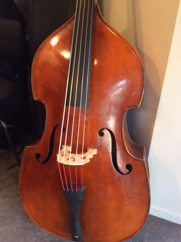 West German 4/4 Size 5 String Double Bass (Used)