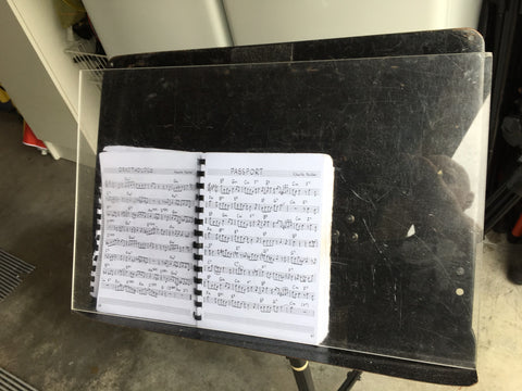 PMM clear perspex music stand sheets