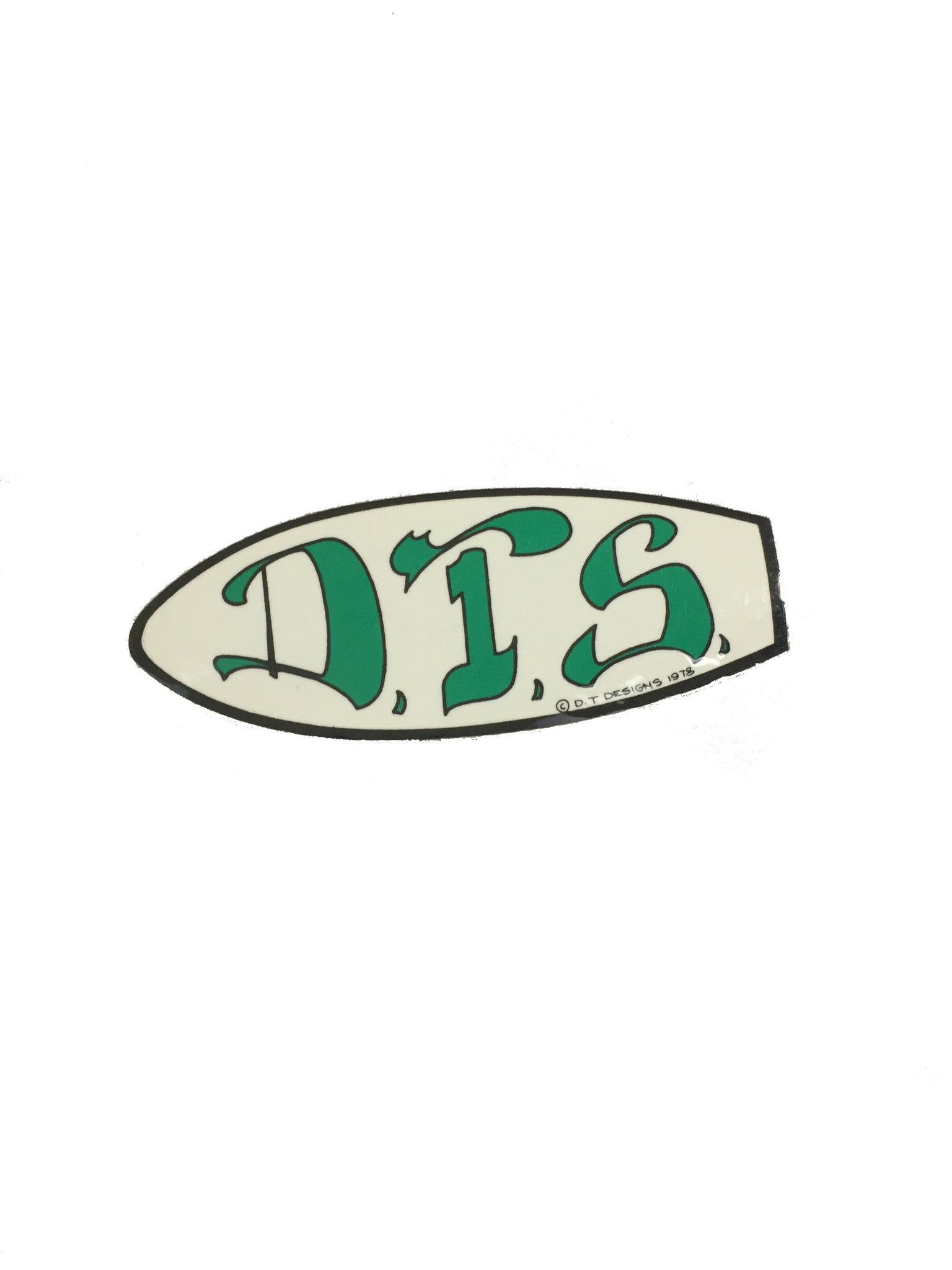 Dog Town - DTS Sticker Green 1978