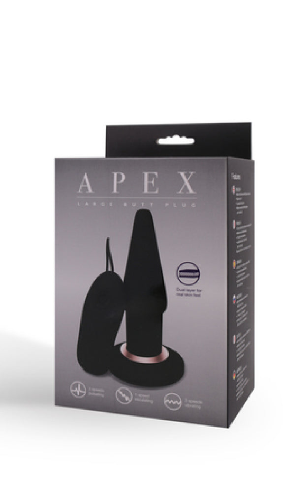 Apex Butt Plug Large (Black)