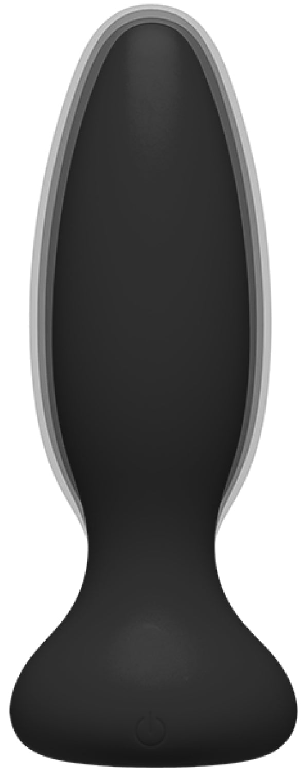 Vibe - Experienced - Rechargeable Silicone Anal Plug With Remote (Black)