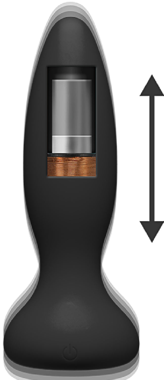 Thrust - Experienced - Rechargeable Silicone Anal Plug With Remote (Black)