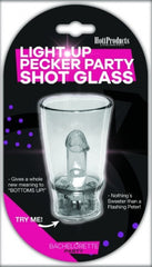 Light Up Pecker Party Shot Glass