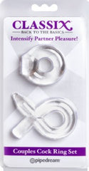 Couples Cock Ring Set (Clear)