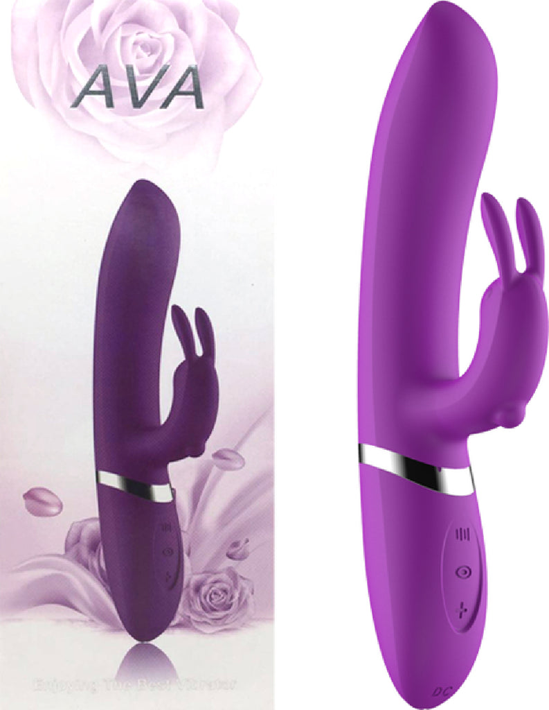 Ava Rechargeable Rabbit Vibrator (Purple)