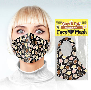 Super Fun Face Mask - F U Finger