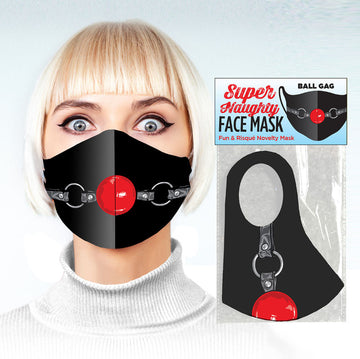 Super Naughty Face Mask - Ball Gag