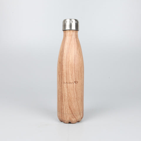 Wooden Finish Steel Bottle