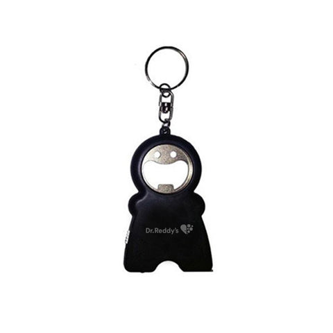 KEYCHAIN WITH TORCH AND MEASURING TAPE