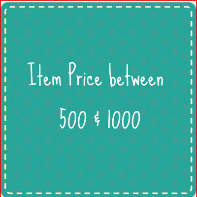 Item Price between 500 & 1000