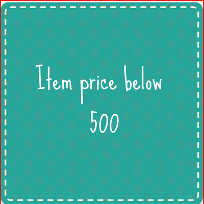 Item price below Rs. 500
