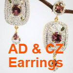 American Diamonds & Cubic Zirconia Earrings