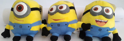 Minions Soft Toy (Set of 3 - Stuart, Bob and Kevin) - Plush Toy - SharePyar