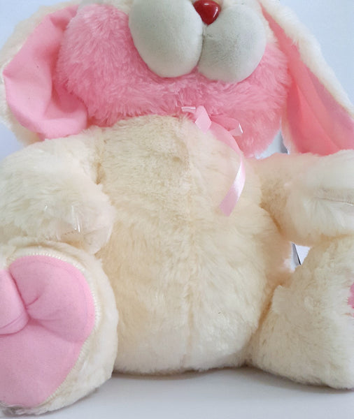 Cuddly Bunny Rabbit Soft Toy - 17 inches - Off white, Pink - SharePyar - 5