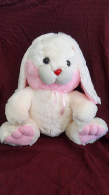 Cuddly Bunny Rabbit Soft Toy - 17 inches - Off white, Pink - Plush Toy - SharePyar