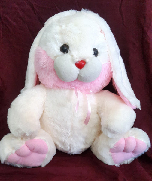 Cuddly Bunny Rabbit Soft Toy - 17 inches - Off white, Pink - SharePyar - 2