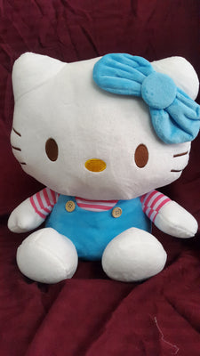 Hello Kitty Soft Toy - 12 inches - White, Blue - Plush Toy - SharePyar