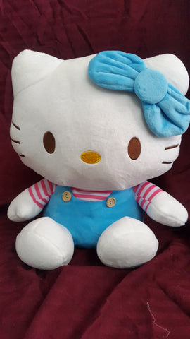 Hello Kitty Soft Toy - 12 inches - White, Blue - SharePyar - 1