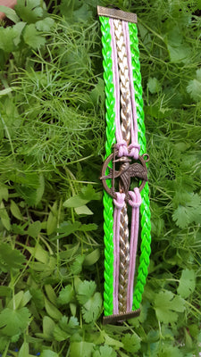 Multilayer Artificial Leather Hunger Games Mockingjay Bracelet, Green - Jewellery - SharePyar