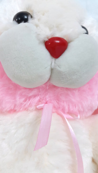 Cuddly Bunny Rabbit Soft Toy - 17 inches - Off white, Pink - SharePyar - 4