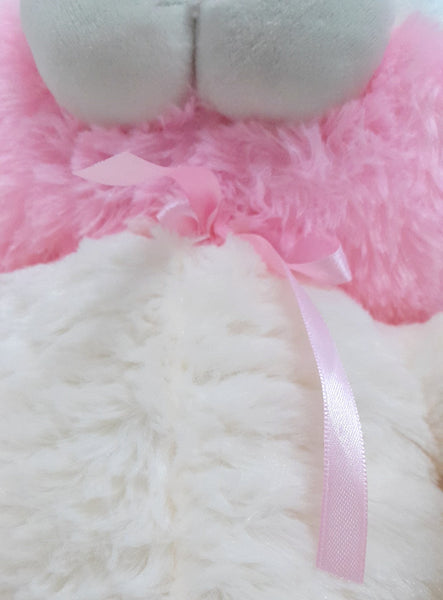 Cuddly Bunny Rabbit Soft Toy - 17 inches - Off white, Pink - SharePyar - 3