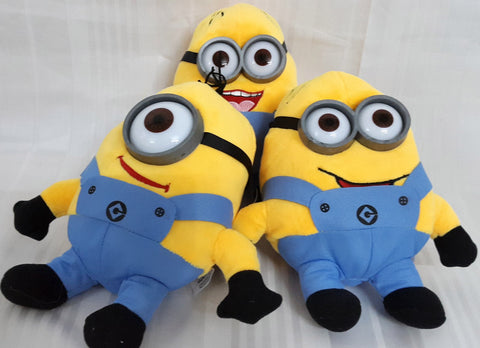 Minions Soft Toy(Set of 3) - 8 inches - Plush Toy - SharePyar