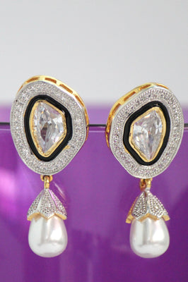 American Diamond Teardrop Earrings - Jewellery - SharePyar