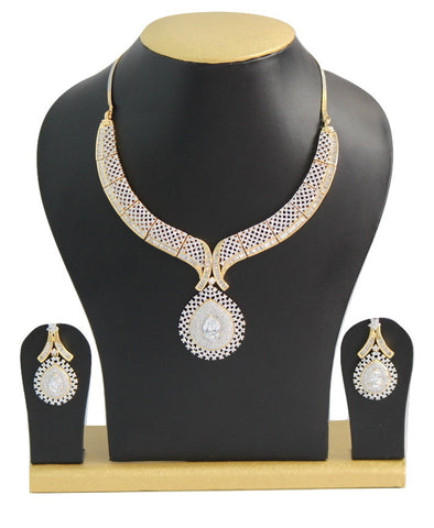 American Diamond Necklace Set - SharePyar - 1