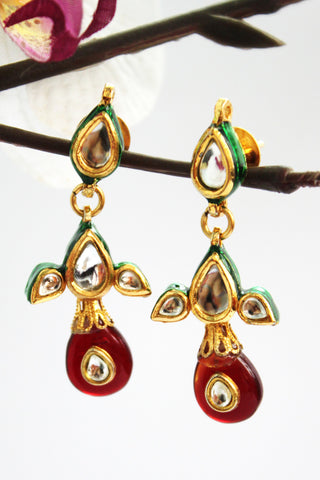 Antique Kundan Dangle Earrings - SharePyar - 1