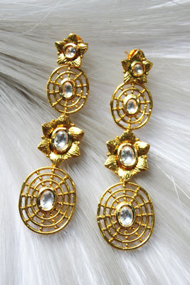 Antique Kundan Drop Earrings - Jewellery - SharePyar