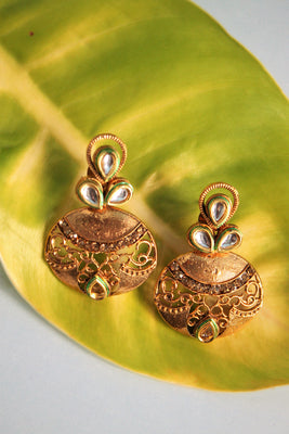 Antique Kundan Earrings - Jewellery - SharePyar
