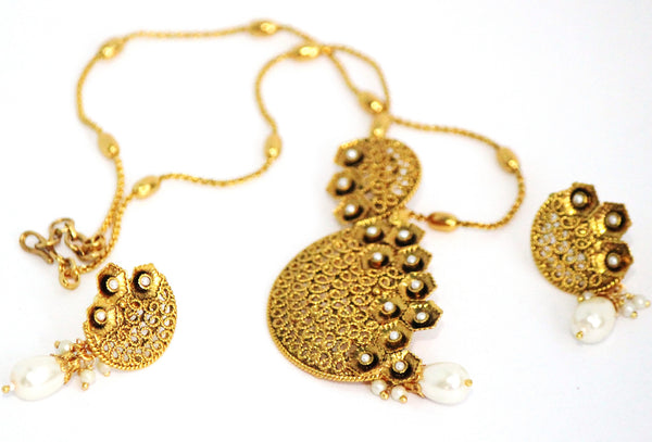 Traditional Antique Necklace Set - SharePyar - 5