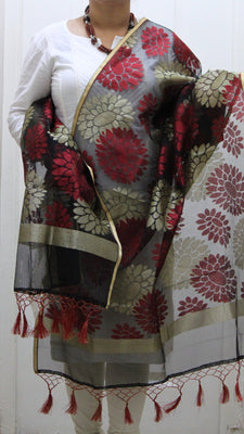 Pure Banarasi Handloom Net Dupatta - Dupatta and Stoles - SharePyar