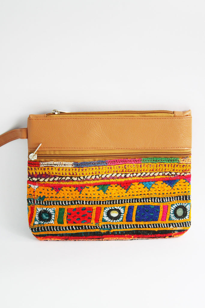 Embroidered Multicolored Clutch - Wallets - SharePyar