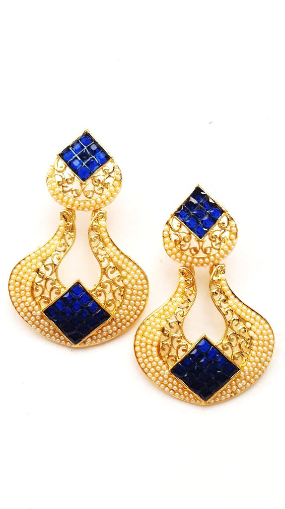 Blue Fashion Dangle Earrings - Jewellery - SharePyar