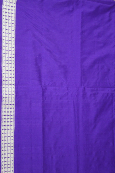 Bomkai Sambalpuri Silk Saree, Mini Butta Design, Hand Woven, Light Purple / Violet - SharePyar - 3