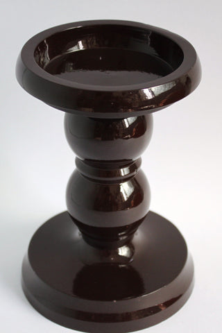 Wholesale (5 pieces) - Decorative Candle Holders - Brass, Chocolate Color - SharePyar - 1
