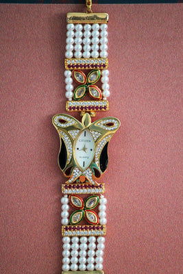 Butterfly Embellished American Diamond Watch - SharePyar - 1
