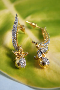 CZ Flower Hook Earrings - SharePyar - 1