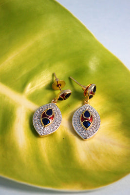 CZ Teardrop Dangle Earrings - Jewellery - SharePyar