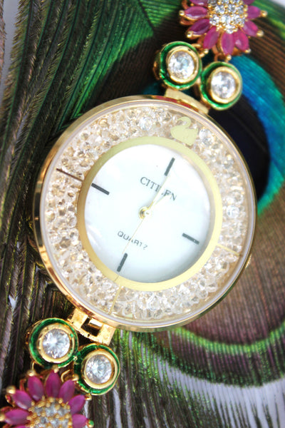 Citizen Kundan Embellished Watch - SharePyar - 1