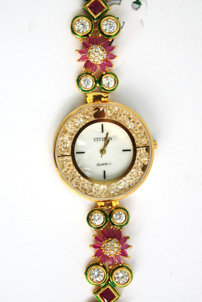 Citizen Kundan Embellished Watch - SharePyar - 3