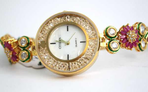 Citizen Kundan Embellished Watch - SharePyar - 6