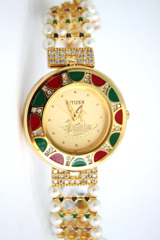 Citizen Multicolour Pearl & Stone Fashion Watch - SharePyar - 1