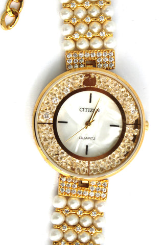 Citizen Pearl American Diamond Fashion Watch - SharePyar - 1