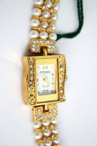Citizen Pearl Square Dial Fashion Watch - SharePyar - 1
