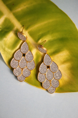Cubic Zirconia Chandelier Earrings - SharePyar - 1