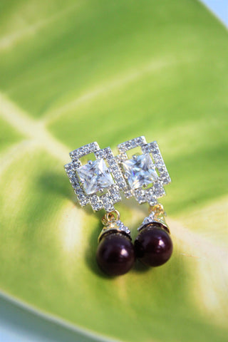 Cubic Zirconia Drop Earrings - SharePyar - 1