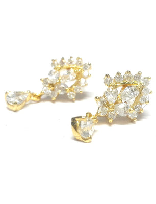 Cubic Zirconia Studs Flower Earrings - Jewellery - SharePyar